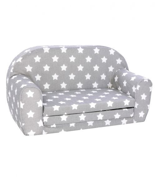 DELSIT Sofa Bed - Grey with White Stars
