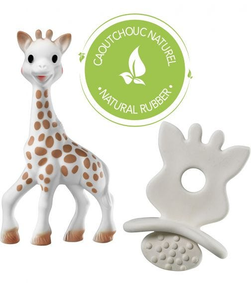 SOPHIE LA GIRAFE So'Pure Toy & Teething Rubber