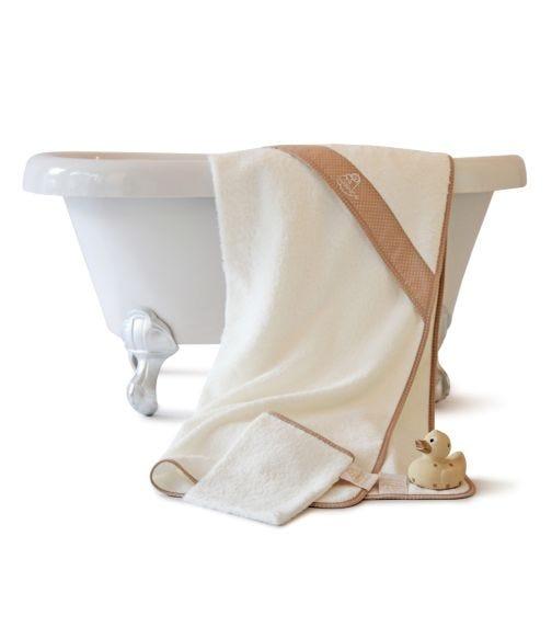CUDDLEDRY Newborn  Bath Gift Set - Beige Dot