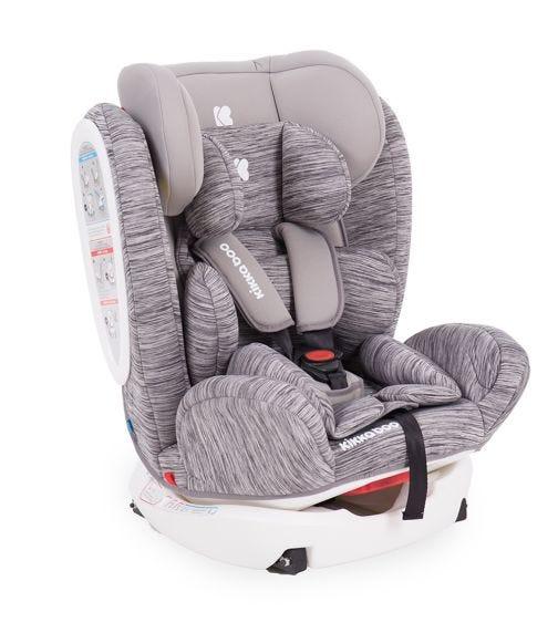 KIKKABOO Car Seat 0-1-2-3 (0-36  KG) 4 Fix Light Grey