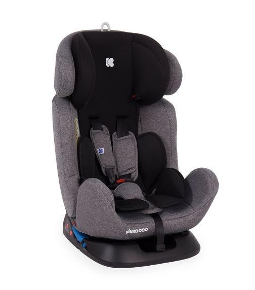 KIKKABOO Car Seat 0-1-2-3 (0-36  KG) 4 Safe Black