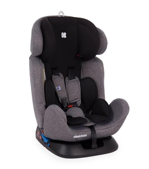 KIKKABOO Car Seat 0-1-2-3 (0-36  KG) 4 Safe + ISOFIX Black