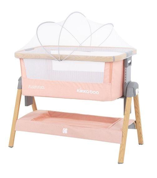 KIKKABOO Bedside Crib Nanna Pink Wood 2020