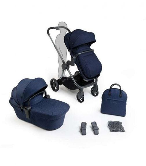 iCANDY Lime Lifestyle Combo - Phantom - Navy Seat & Carry Cot