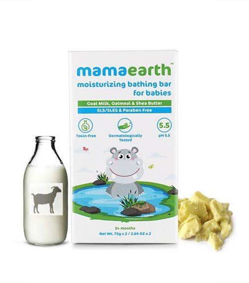 MAMAEARTH Moisturizing Bathing Bar Soap For Babies, 2X75G