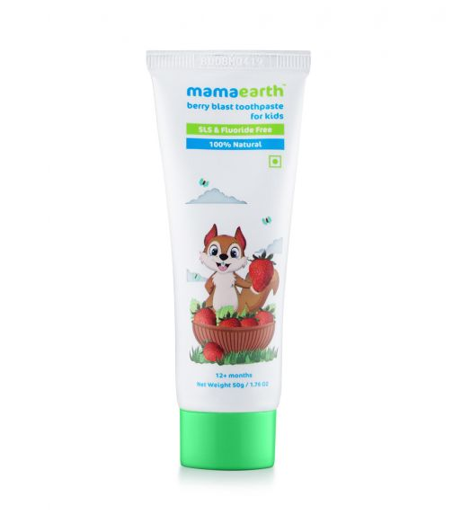 MAMAEARTH 100% Natural Berry Blast Toothpaste For Kids, 50G