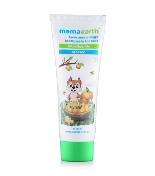 MAMAEARTH Sulfate Free Awesome Orange Toothpaste For Kids