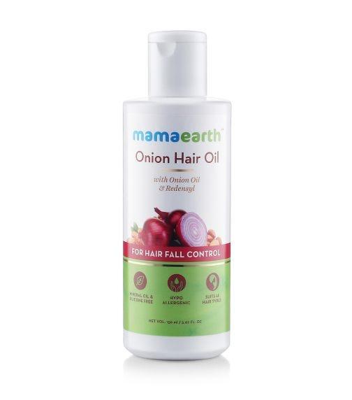 MAMAEARTH Onion Hair Oil-Hair Regrowth, Hairfall Ctrl,150 ML