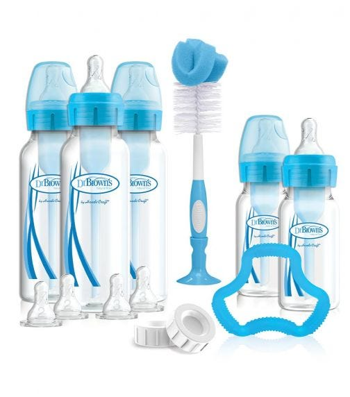 DR. BROWN'S PP Narrow Neck Bottle Blue Gift Set