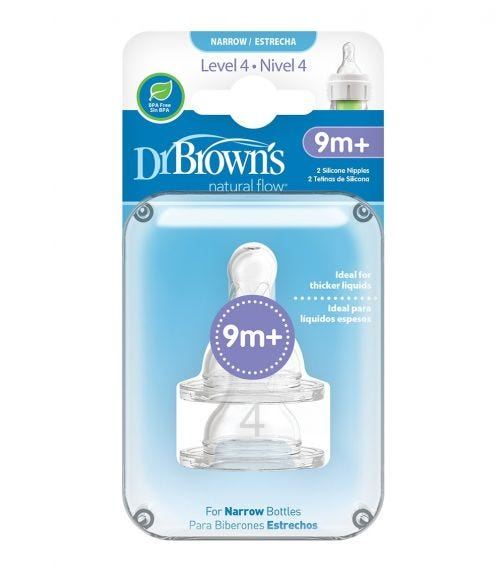 DR. BROWN'S Level 4 Silicone Narrow Options Nipple
