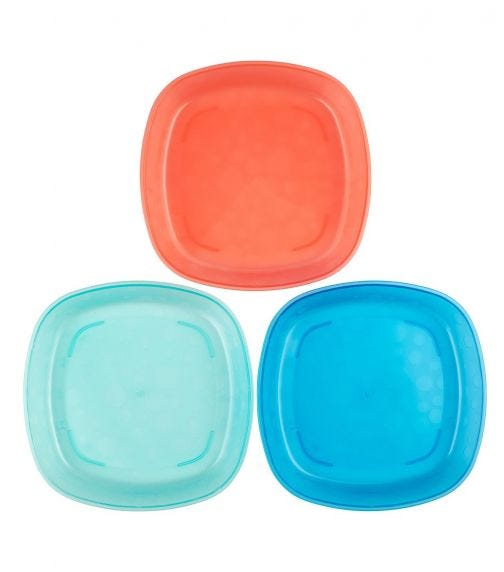 DR. BROWN'S Toddler Plates 3 Pack