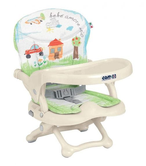CAM Smarty Feeding Booster Chair - Green House