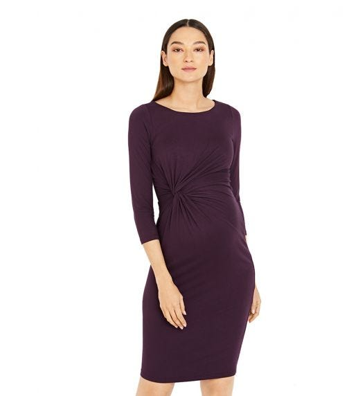 A PEA IN THE POD Knot Front Maternity Dress