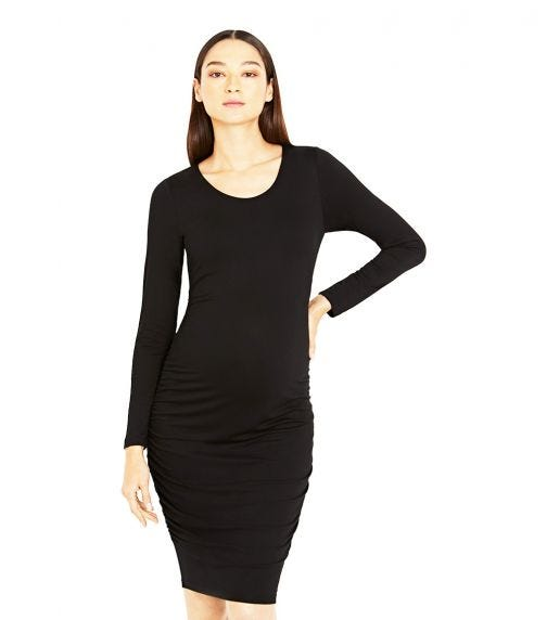 A PEA IN THE POD Luxe Side Ruched Maternity Dress
