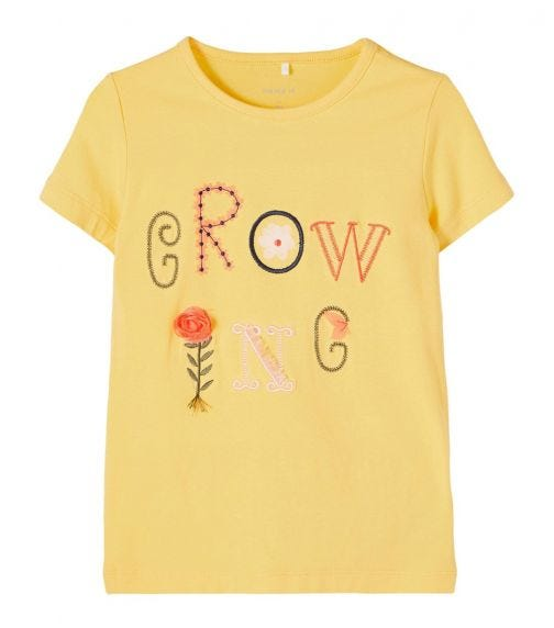 NAME IT Baby Girl Growing Short-Sleeved T-Shirt