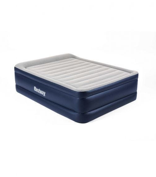 BESTWAY Airbed Queen With Built-In AC Pump - Blue