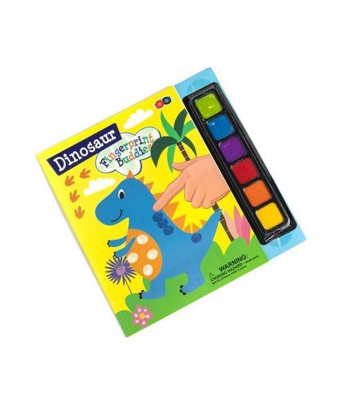 BUDDY & BARNEY Fingerprint Buddies Book Dinosaur