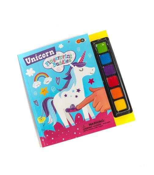 BUDDY & BARNEY Fingerprint Buddies Book Unicorn