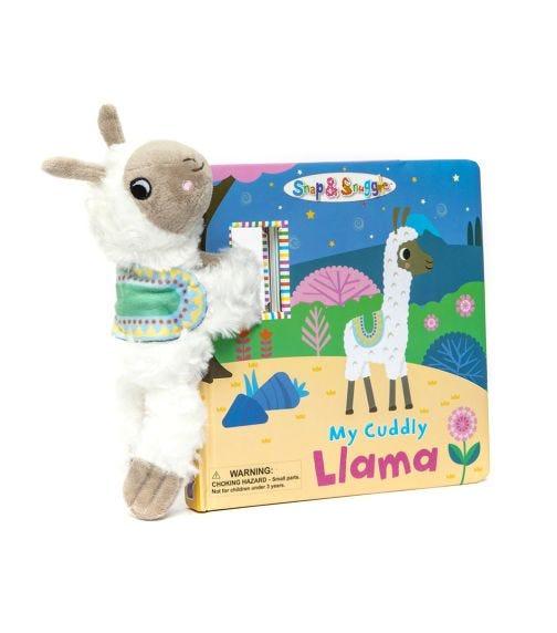 BUDDY & BARNEY Snap And Snuggle My Cuddly Llama