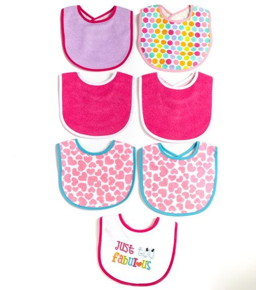 MOTHER'S CHOICE Baby 7 Pack Bibs