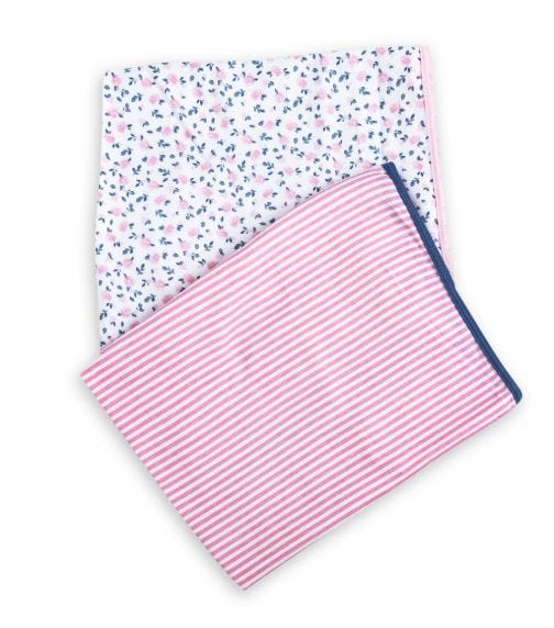 MOTHER'S CHOICE Baby 2 Pack Interlock Wrap 100% Cotton Interlock