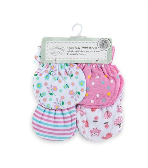 MOTHER'S CHOICE 4 Pack Mittens