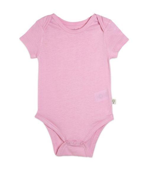 ORGANIC KID Pink Short Sleeve Bodysuit