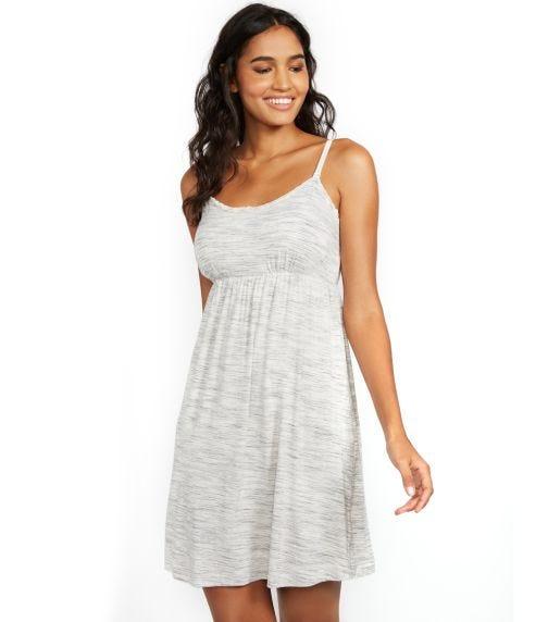 MOTHERHOOD MATERNITY Lace Trim Nursing Nightgown