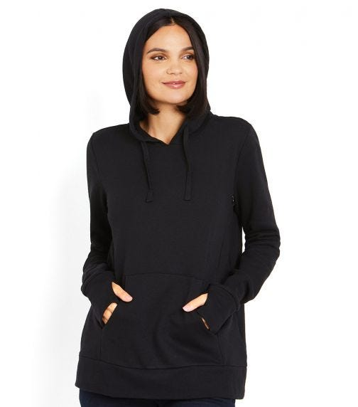 MOTHERHOOD MATERNITY Long Sleeve Hidden Zip Front Nursing Hoodie