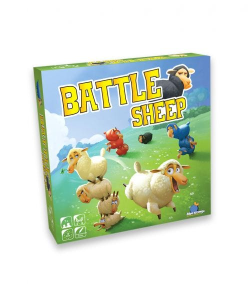 BLUE ORANGE GAMES Battle Sheep. Board Game