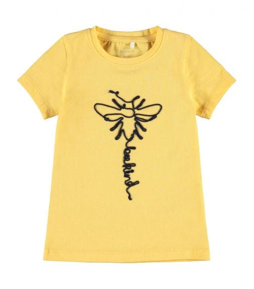 NAME IT Baby Girl Bee Kind Mini Girl T-Shirt