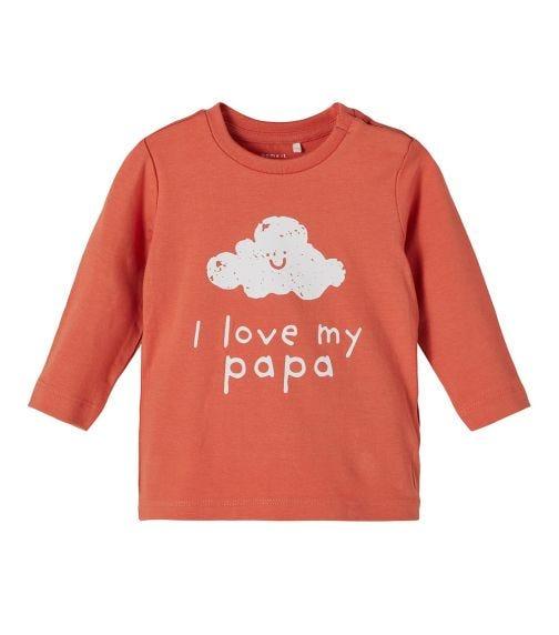 NAME IT Baby Girl I Love My Papa Long-Sleeved T-Shirt