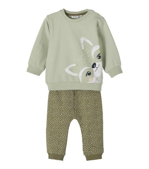 NAME IT Baby Girl Sweatshirt And Sweatpants Set