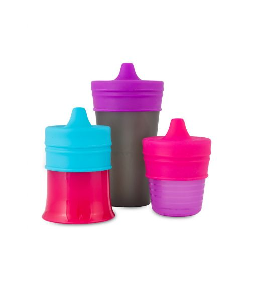 BOON Snug Stretchy Silicone Reusable Spout Lids