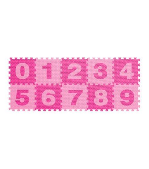 POWER JOY Puzzle Mat Number - 10 Pieces - Pink