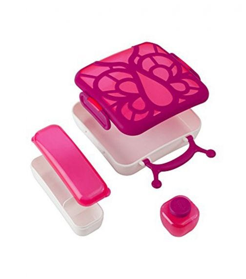 BOON Bento Lunch Box - Pink Butterfly