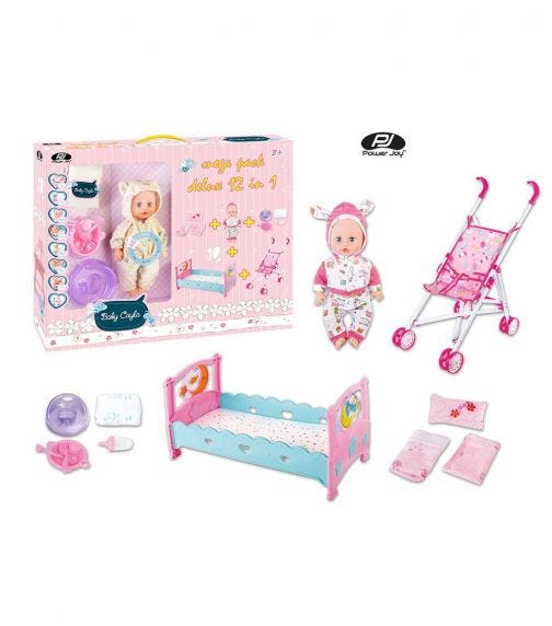 POWER JOY Baby Cayla Mega Pack Deluxe 12 In 1 - Battery Operated