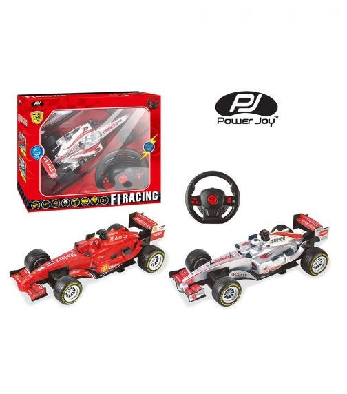 POWER JOY 1:12 Scale Remote Controller Car F1 - Battery Operated (Assorted)