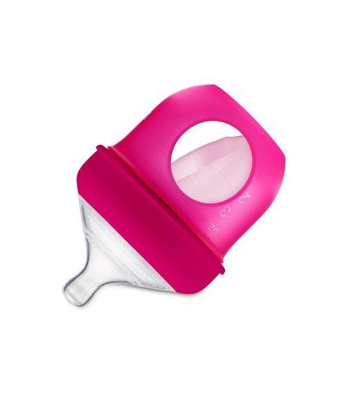BOON Nursh Silicone Bottle 4Oz Pink