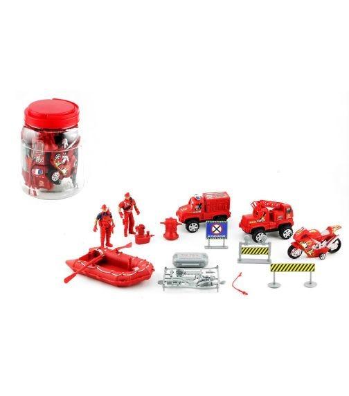 POWER JOY Promojar Fire Rescue Play Set