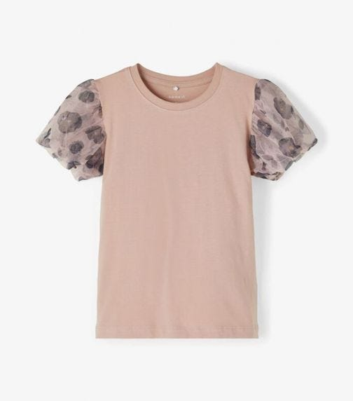 NAME IT Baby Girl Puff Sleeve T-Shirt
