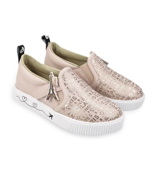 CHOUPETTE Rose Gold Travel Moccasins