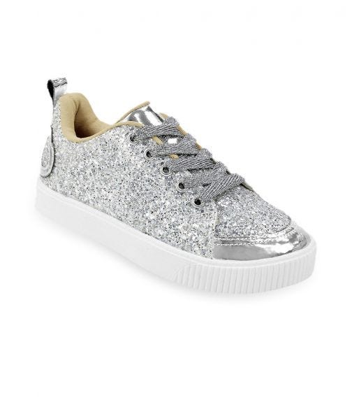 CHOUPETTE Silver-Coated Sneakers