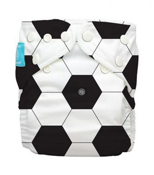 CHARLIE BANANA 1 Diaper + 2 Inserts (One Size) Hybrid AIO - Soccer