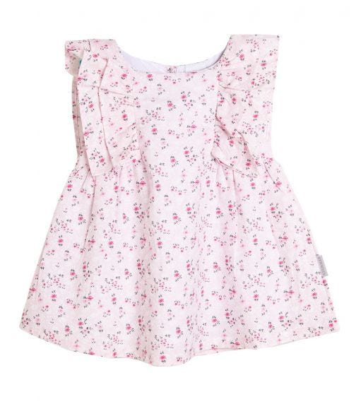 STUMMER Floral Dress With Frill Detail