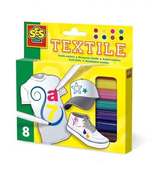 SES CREATIVE Textile Markers Set (8 Colours)