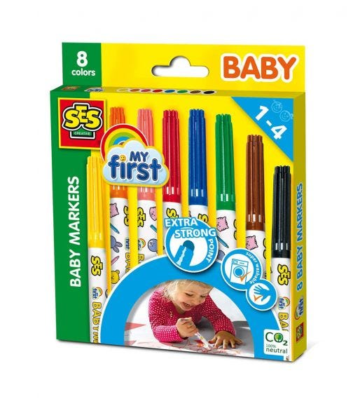 SES CREATIVE Baby Markers Set
