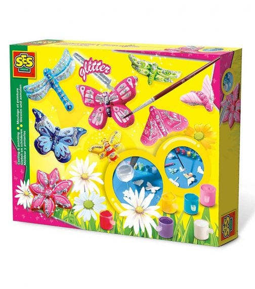 SES CREATIVE Casting & Painting - Butterfly Glitters Set