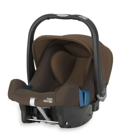 BRITAX Baby Safe Plus Car Seat SHR II From 0-13 Months Wood Brown