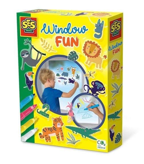 SES CREATIVE Window Fun Markers - Jungle Thyme